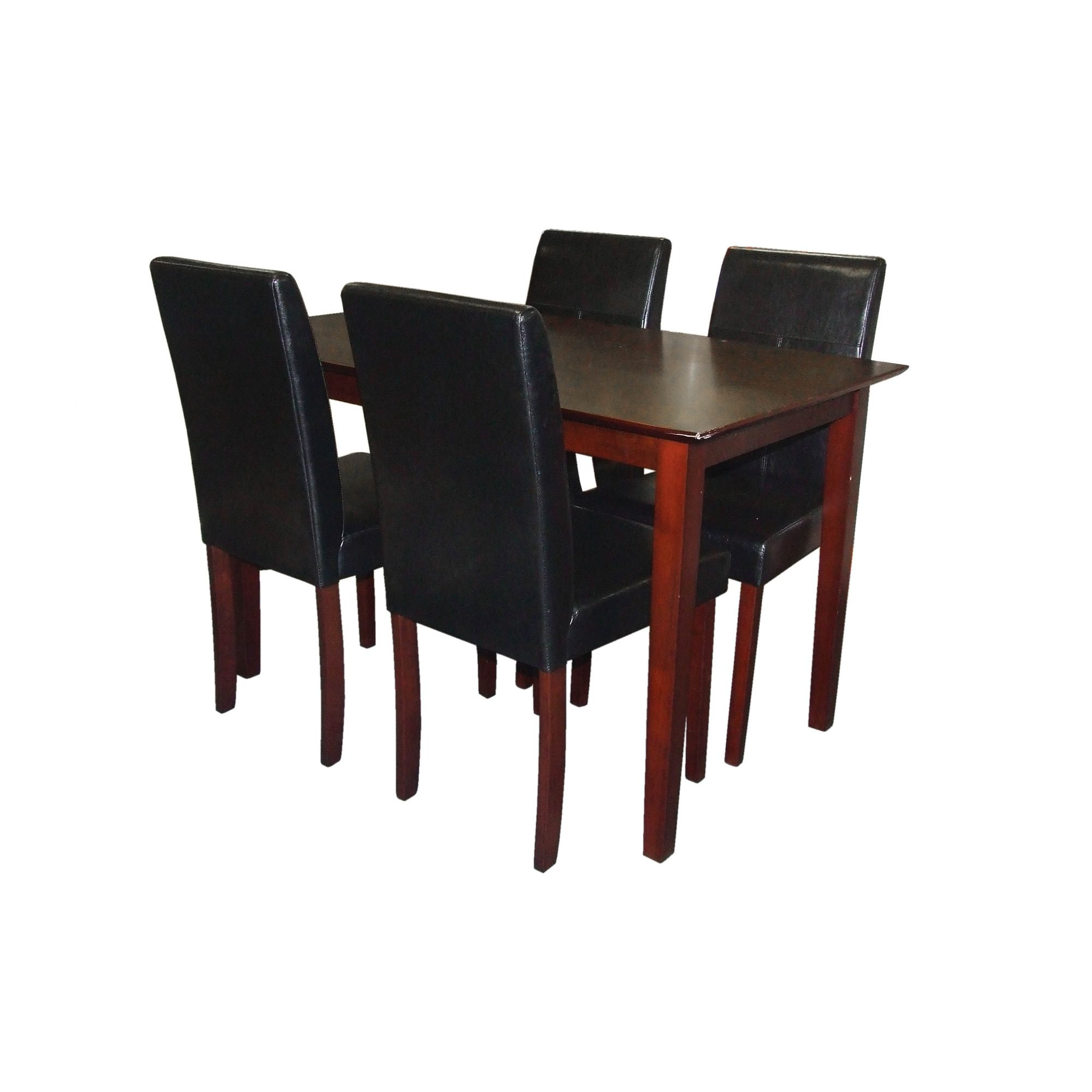 Premier Housewares 5 Piece Dining Set with Light Solid Rubberwood Cozinha - Brown at Tesco Direct