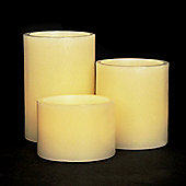 Set of 3 Battery Operated Vanilla Scented LED Candles