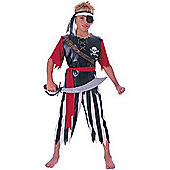 Rubies Fancy Dress - Pirate King Costume - Boys Large- UK Size 8-10 Years