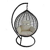 Bentley Garden Brown Rattan Swing Chair