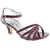 Skittles Girls Berryliscous Burgundy Party Sandals