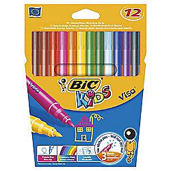 Bic Kids Visa Felt Tip Pens, 12 Pack