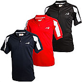 Woodworm Golf Tour Performance Mens Polo Shirts -3 Pack Small