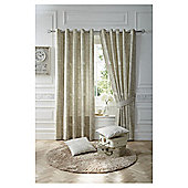 Nostalgia Lined Eyelet Curtains - Natural