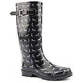 Brantano Ladies Beauty Horse Black Wellington Boots