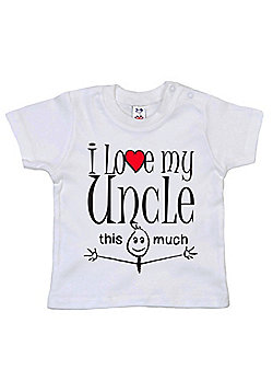 Dirty Fingers I love my Uncle this much Baby T-shirt - White