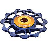 Acor Super Light Alloy Jockey Wheel: Blue.