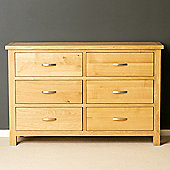 London Oak 3+3 Chest of Drawers - Light Oak