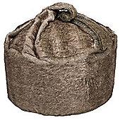 Kaikoo Faux Fur Bean Bag, Tan