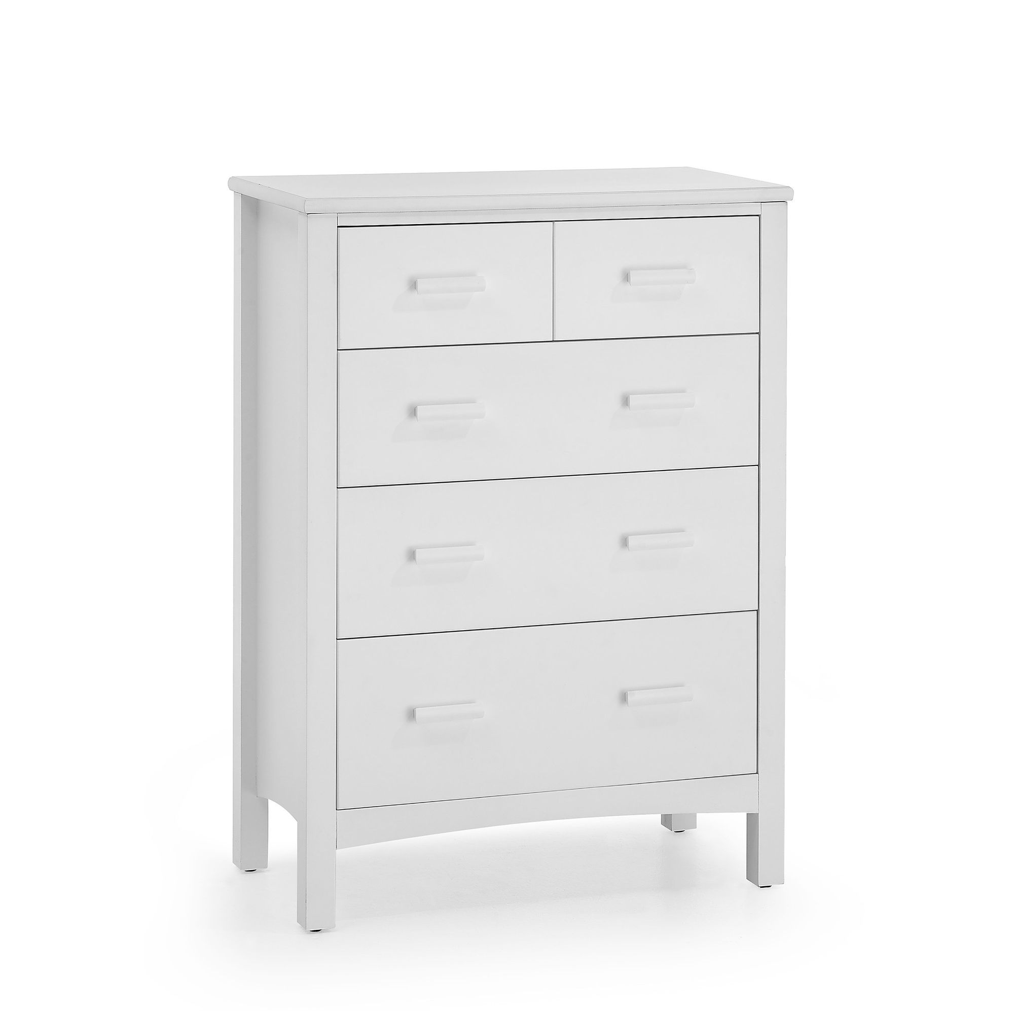 Serene Furnishings Eleanor 5 Drawer Chest - Opal White at Tescos Direct