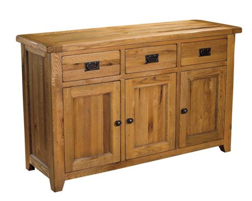 Kelburn Furniture Parnell 3 Door Large Sideboard in Rustic Oak