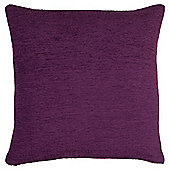 Tesco Chenille Purple Cushion