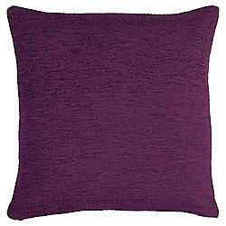 Tesco Chenille Purple Cushion