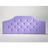 The Shire Bed Company Imperial Velour Headboard - Small Single - Black