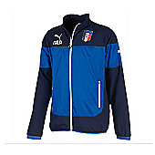 2014-15 Italy Puma Leisure Jacket (Blue) - Kids - Blue
