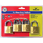 Sterling BPL422 Brass Padlock - 20mm 4 in a Pack