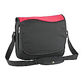 Falcon Funky red and black 14 Inch laptop messenger bag