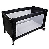 Safetots Sleep and Go Travel Cot Black with Deluxe Mattress