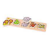 Bigjigs Toys BB015 Chunky Lift and Match Safari Puzzle