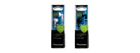 Pioneer SE-CE521-K Fully Enclosed Dynamic Inner-Ear Headphones - Black