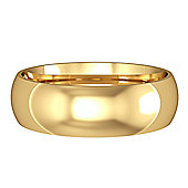 18ct Yellow Gold - 6mm Essential Court-Shaped Band Commitment / Wedding Ring -