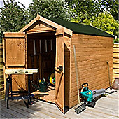 8ft x 6ft Windowless Premier Tongue & Groove Apex Shed