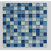 Bright & Beautiful Blue Glass Mosaic 300x300mm  (0.09 M² / Box)