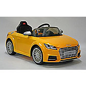 Kids Electric Car Audi TTS 12 Volt Yellow Gloss