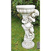 Europa Leisure Solstice Sculptures Boy Planter in Ivory