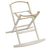 Dormouse Deluxe Rocking Moses Basket Stand (White)