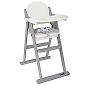 East Coast Wooden Folding Highchair White and Grey