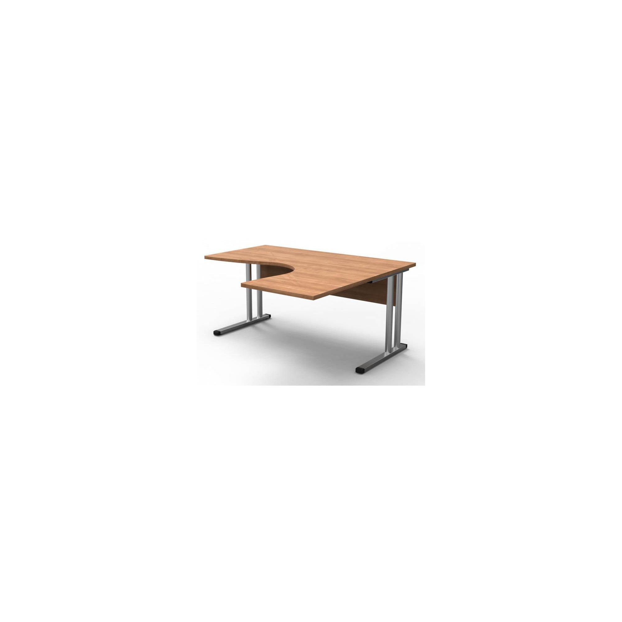 Modal Perfect 160cm Radial Desk in Warm Cherry at Tesco Direct