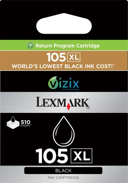 Lexmark 105XL Black High Yield Return Program Ink Cartridge