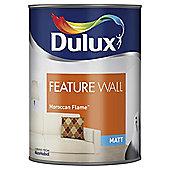 Dulux Feature Wall Matt Emulsion Paint, Moroccan Flame, 1.25L