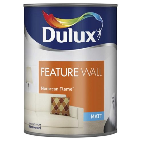 Dulux Feature Wall Matt Emulsion Paint, Moroccan Flame, 1.25L