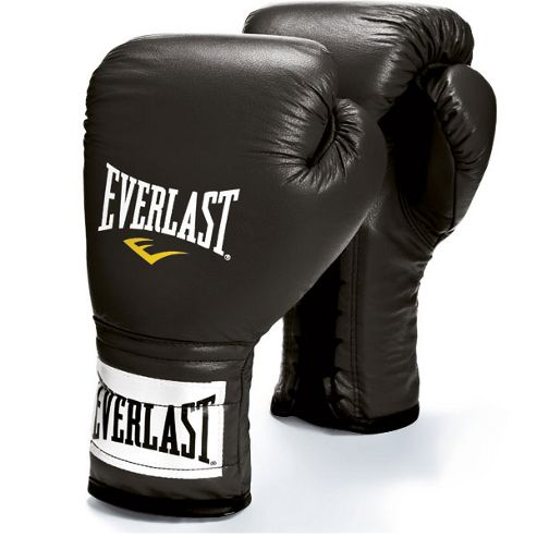 Everlast Laced Boxing Sparring Glove 16oz - Black