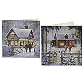 Christmas Cottage Cards 10pk