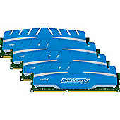 16 GB Kit (4GBx4) DDR3 1866 MT/s (PC3-14900) CL10 15 V Ballistix Sport XT UDIMM 240pin
