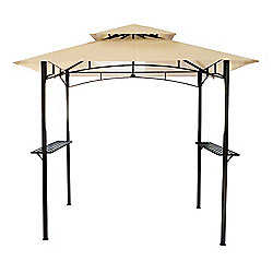 Bentley Garden 8 x 5 Ft Steel BBQ Gazebo - Beige