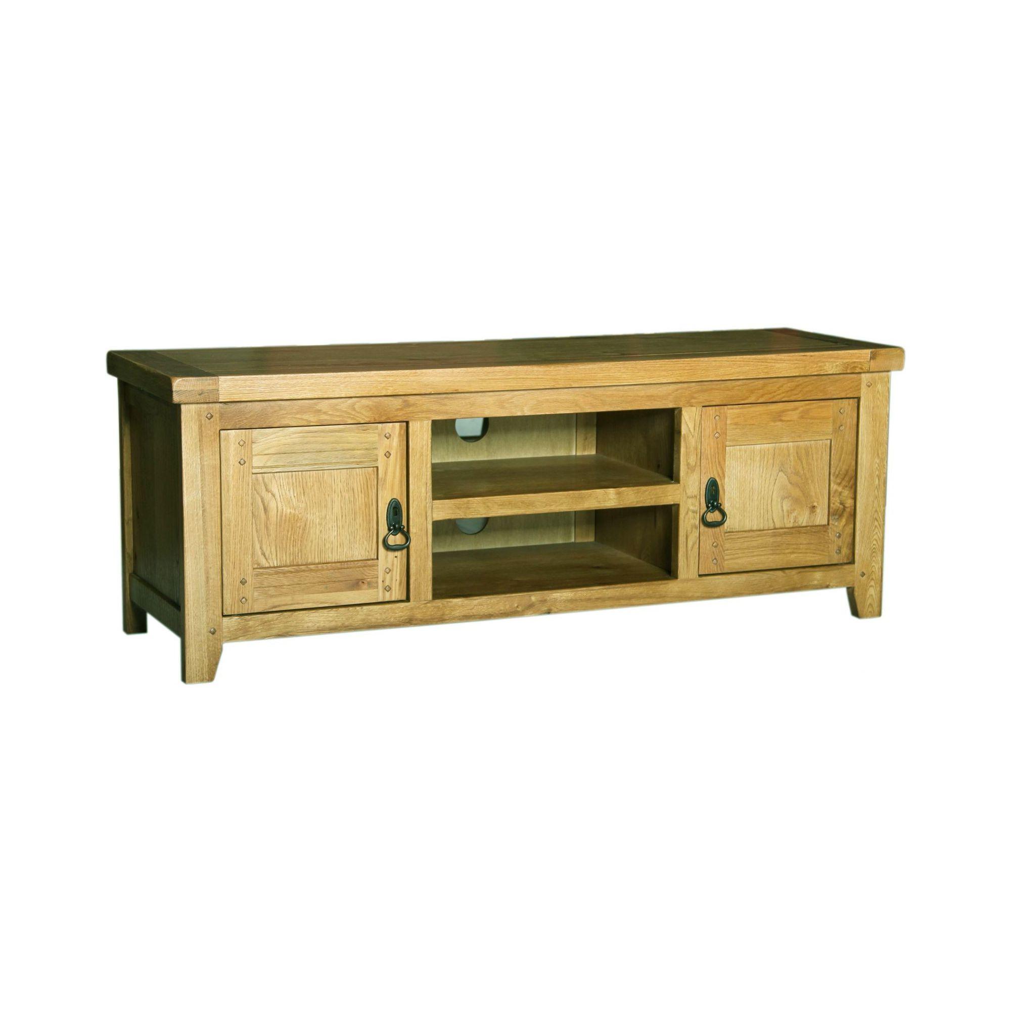 Kelburn Furniture Veneto Rustic Oak Low TV Stand at Tescos Direct