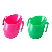 Doidy Cup Bundle - Green Sparkles And Cerise Sparkles - 2 Items Supplied