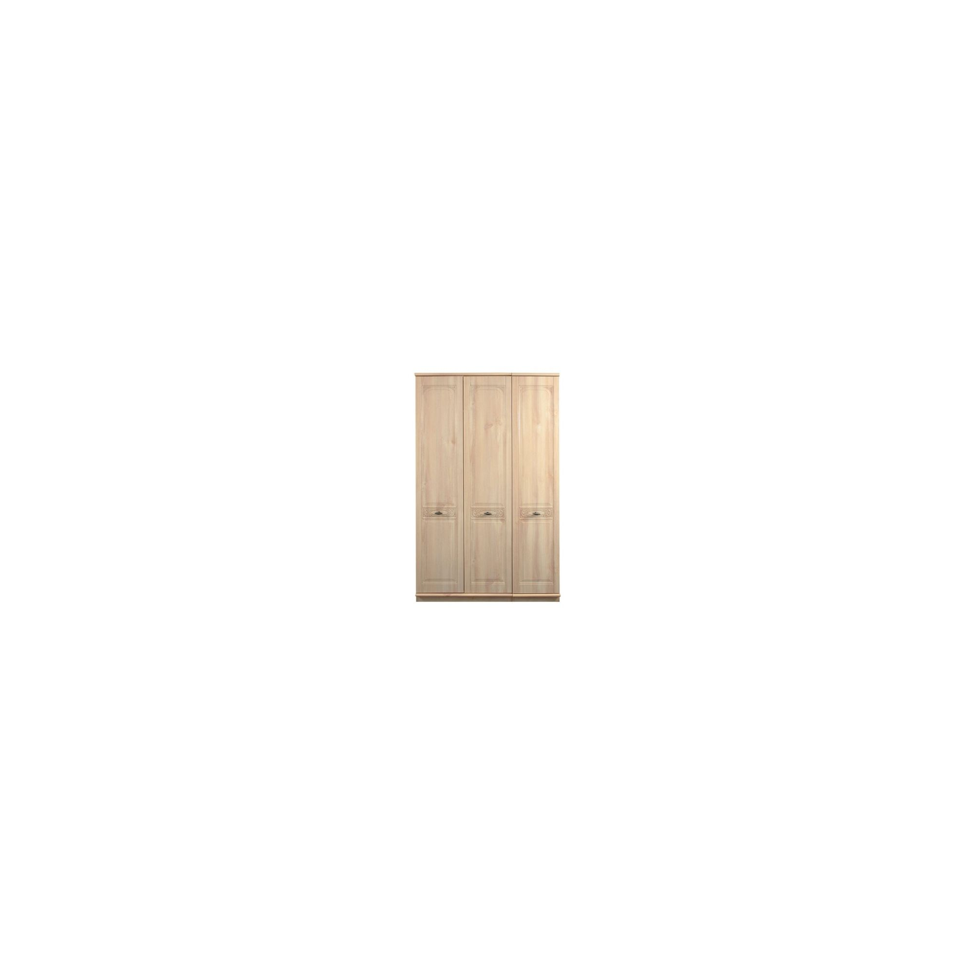 Caxton Florence 3 Door Wardrobe in Washed Oak Effect at Tesco Direct