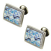 Thora Walton Blue Dynasty Silver Cufflinks