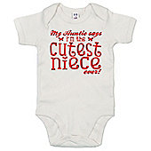 Dirty Fingers Auntie says Cutest Niece ever Baby Bodysuit