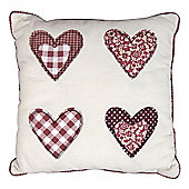 Gingham Hearts Cushion