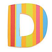 Tatiri TA304 Spots and Stripes Wooden Letter D