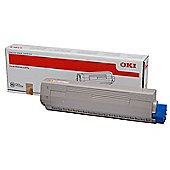 OKI Yellow Toner Cartridge for C831/C841 A3 Colour Printers (Yield 10,000 Pages)