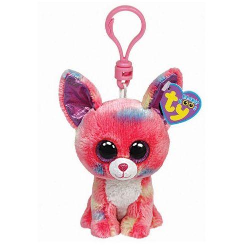 TY Beanie Boo Key Clip Pink Chihuahua Cancun
