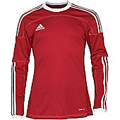 Adidas Toque 11 Climalite Long Sleeved Football Shirt Red/White 3XL