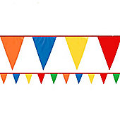 Multi-coloured Bunting - Plastic 36m